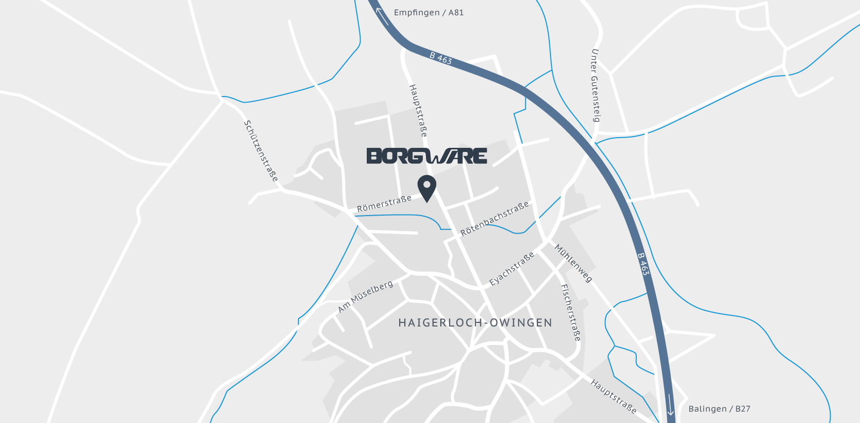 Standort der Firma BORGWARE IT Solutions & Services in Haigerloch