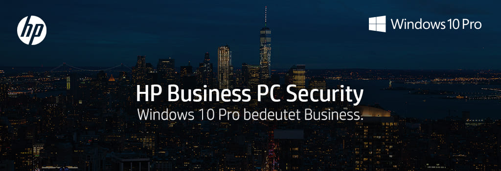 HP Business PC Security mit Windows 10 Pro