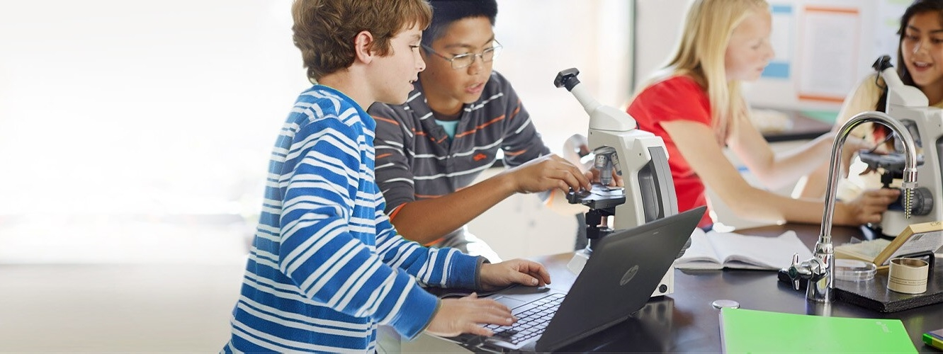 HP Education Slider